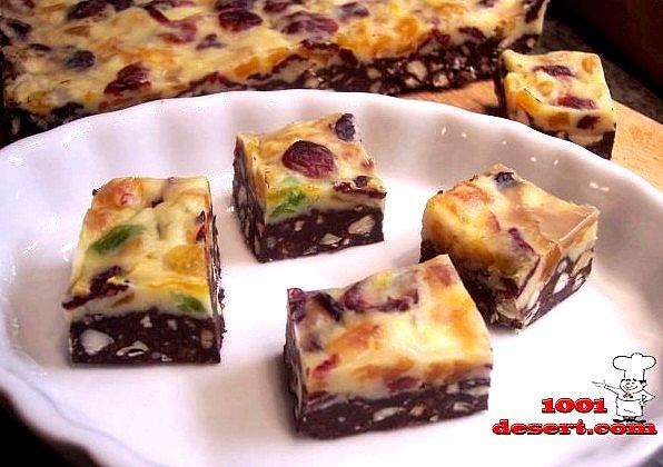 Конфеты с двойным шоколадом, сухофруктами и орехами