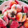Необычные пирожное персики с кремом